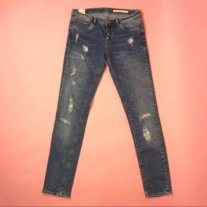 Zara The Rebel Skinny Distressed Jeans Size 6